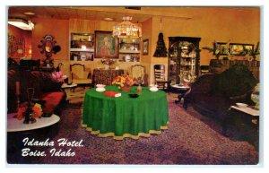 BOISE, Idaho ID ~ Interior IDANHA HOTEL Lobby? ca 1960s Roadside Postcard
