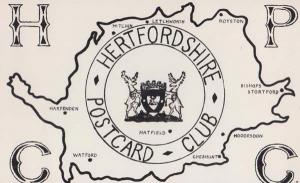 Hertfordshire Postcard Club 1970s Advertising & Cricket Club Meeting Details