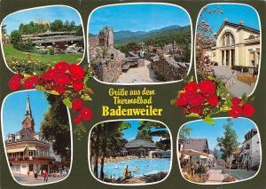 Gruesse aus dem Thermalbad Badenweiler Schwarzwald Schwimmbad Castle Ruins