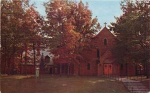 Prudenville Michigan~Our Lake of the Lake Catholic Church~1950s Postcard
