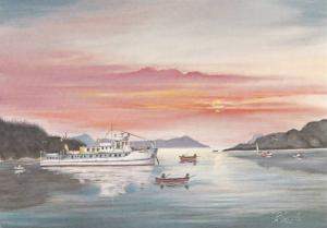 Painting by Pauline Lacerte, M.V. Marabell, Charter Yacht, Victoria, British ...