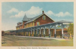 KENTVILLE, Nova Scotia, Canada, 1910-20s ; Railroad Train Station