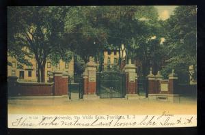 Providence, Rhode Island/RI Postcard, Van Wickle Gates, Brown University, 1905!
