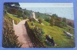 Vintage Postcard  The Cliffs Leigh-On-Sea  Essex  Postmarked 1927 C1B