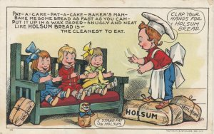 ADV; 1900-10s; Billy Baker tells the kids to clap for HOLSUM BREAD
