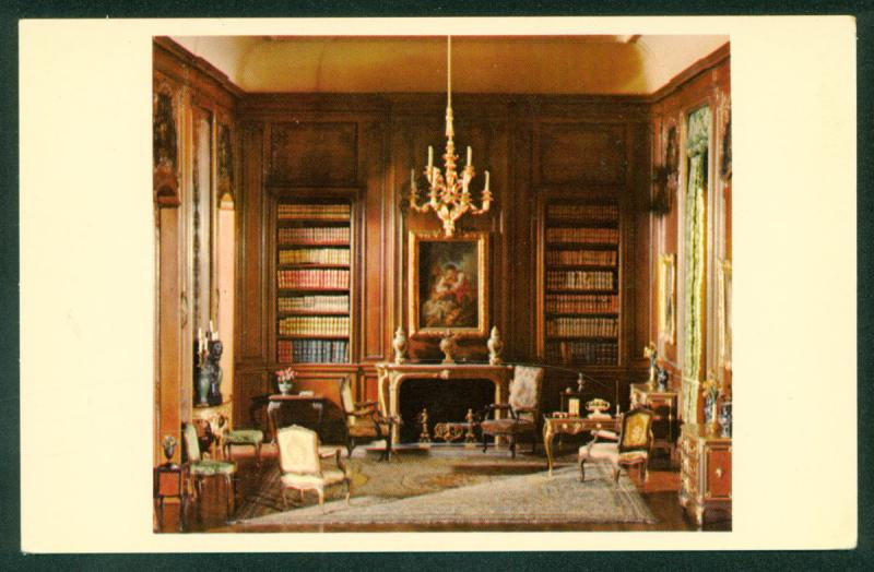 European Rooms in Miniature House Library French Louis XV 1720 Vintage Postcard