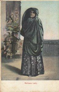 MALTA , 1900-10s ; Valletta ; Maltese Lady