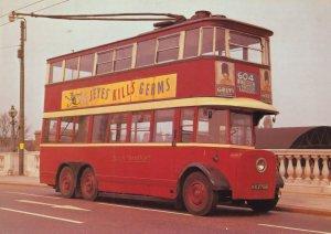 AEC Diddler Wimbledon London Bus Jeyes Germkiller Advertising Postcard