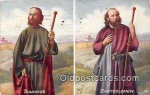 Religion Postcard Bartholomew Thaddeus