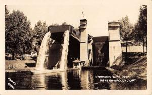 Peterborough Ontario Canada Hydraulic Lift Lock Real Photo Postcard K93308