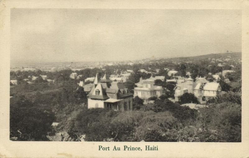 haiti, PORT-AU-PRINCE, Partial View (1920s)