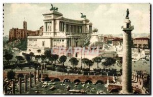 Old Postcard Roma Monumente