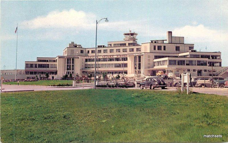 1950s Seattle-Tacoma International Airport Smth Scenic Views postcard 7737