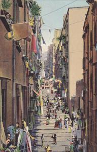 Busy Street View, Napoli (Campania), Italy, 1900-1910s