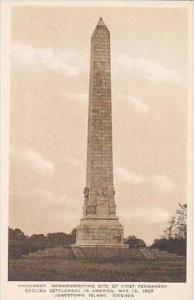 Virginia Jamestown Island Monument Commemorating Site of First Permanent Engl...