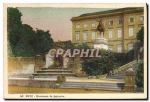 Old Postcard Metz Lafayette Monument