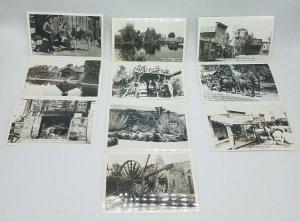 Lot of 10 Vintage RPPC Knotts Berry Farm Place Buena Park CA Postcards 1940s 50s