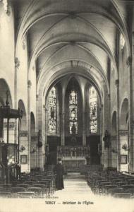 CPA TORCY Interieur de l'Église (171216)