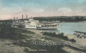 Indiana Steamer, Steam Boat, Steamboat, Ship, Ships, Postcard Post Cards  Ind...