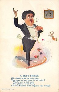 Occupation, Misc. Post Card The Silly Singer Comic 1908