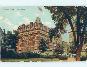 Bent Corner Divided-Back GARDE HOTEL Hartford Connecticut CT B4790
