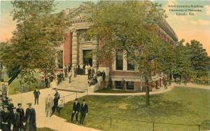 Administration University C-1910 Lincoln Nebraska Teich postcard 12303