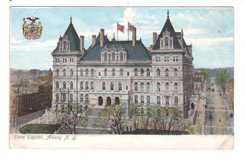 STATE CAPITOL BUILDING ALBANY NEW YORK ANTIQUE POSTCARD c1910