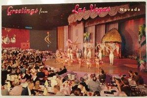 Greetings from Las Vegas NV Postcard Venus Room Hotel New Frontier