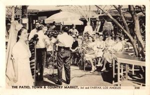 Los Angeles California Town Country Market Patio Real Photo Postcard K89585