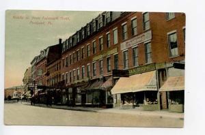 Portland ME Middle Street Hogan Brothers G.W. Morris Postcard Shop