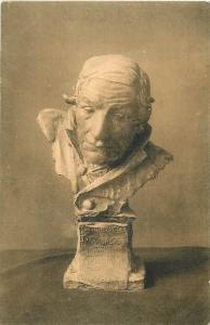 Art postcard sculpture Charles van der Stappen - Mon oncle le Jurisconsulte