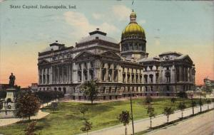 Indiana Indianapolis State Capitol Building 1913