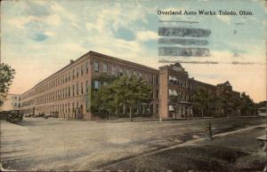 Toledo OH Overland Auto Car Works Factory c1910 Postcard