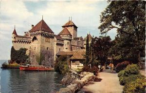 BR26508 Chillon Montreux le chateau vu du Sud Switzerland