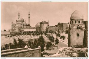 Egypt, Cairo, The Citadel and Mohamed Aly Mosque, unused ...