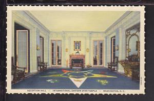 Reception Hall,Eastern Star Temple,Washington,DC Postcard