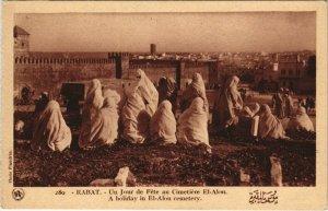 CPA AK MAROC RABAT Un jour de Fete au Cimetiere El-Alou Flandrin (38135)