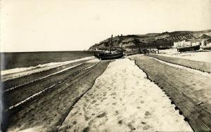 spain, CALELLA, Playa de Pescadores (1950s) RPPC