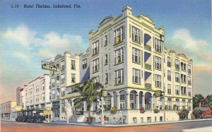 Hotel Thelma, Lakeland, Florida, early linen postcard, Unused