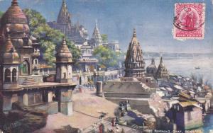 RAPHAEL TUCK & SONS', #7239; BENARES, India, 1900-1910's; The Burning Ghat