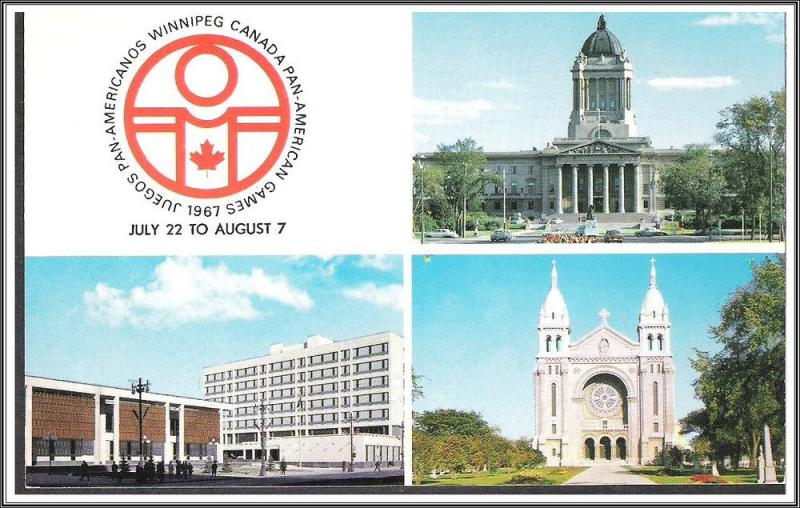 Canada Manitoba Pan-Am Games Postcard