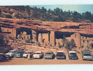 Pre-1980 OLD CARS AT MANITOU CLIFF DWELLINGS Colorado Springs Colorado CO AD2407