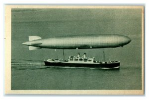 Zeppelin Airship, 1929 Technology, Echte Wagner German Trade Card *VT31V