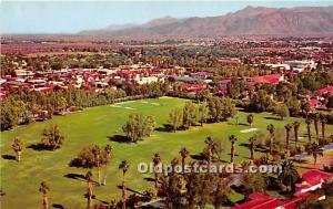 Old Vintage Golf Postcard Post Card Overlookin Golf Course Palm Springs, Flor...