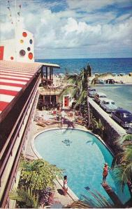 Florida Fort Lauderdale The Jolly Roger Hotel With Pool 1958