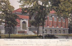 Public Library, WINDSOR, Ontario, Canada, PU-1906