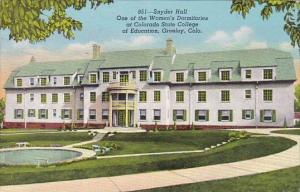 Colorado Greeley Snyder Hall One Of The Women's Dormitories At Colorado State...
