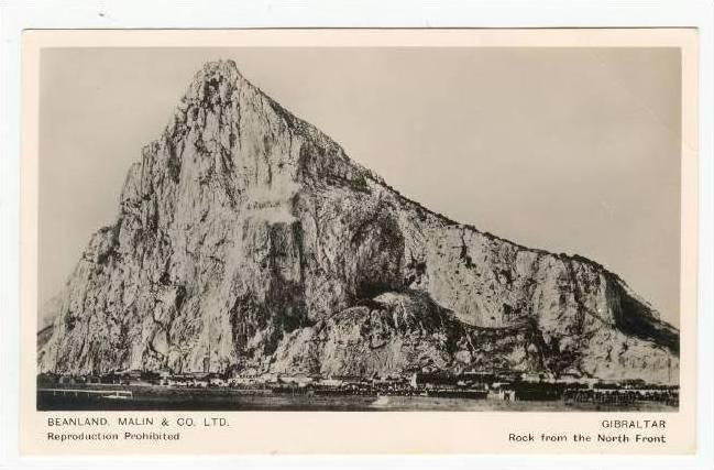 RP  Gibraltar,  Rock from the North Front, 20-40s