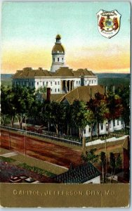Jefferson City, Missouri Postcard State Capitol Building, Bird's-Eye View c1910s