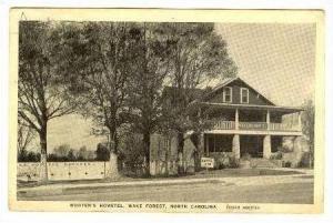 Wooten´s Hometel, Wake Forest, North Carolina, PU-1938